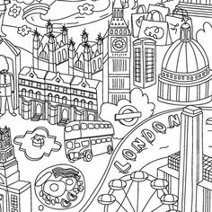 Colouring Placemats - Cities - alt_image_one