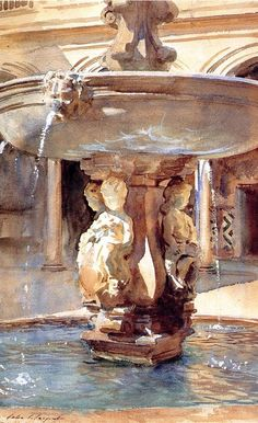 Spanish Fountain, 1912, Fitzwilliam Museum John Singer Sargent (1856-1925) See archive for more: HERE