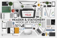 Header & Stationery Mock Up Creator - Product Mockups - 1