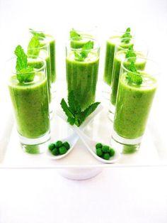 Garden Party Ideas -- Pea and Mint Soup--Amuse Bouche