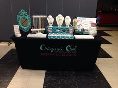 My jewelry bar™ set up with Origami Owl® Custom Jewelry. Host a jewelry bar™ of your own and earn FREE & discounted jewelry! prettybirdlockets@yahoo.com