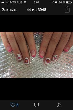 Nail art  Hello Kitty