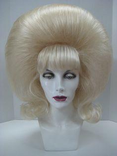 Custom Design Wigs I - Outfitters Wig Big Blonde Hair, Big Curly Hair, Blonde Wig, Kathleen Robertson, Teased Hair, Bouffant Hair, Jenny Mccarthy, Veronica Lake, Retro Hairstyles