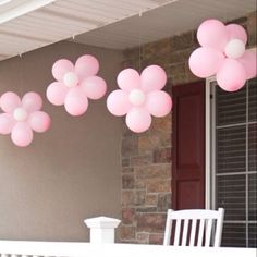 Balloon Flowers - These would be so cute for a baby shower or a little girl's birthday.