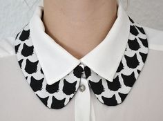 Peter Pan collar cats. by byelhe on Etsy