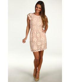 @Katie Schmeltzer Costello BCBGeneration Floral Lace Cutout Back Dress Blush - Zappos.com Free Shipping BOTH Ways