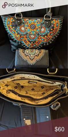 American Bling ✨purse/handbag with matching wallet Like New! No scratches, tears, marks or stains! Cheap Purses, Unique Purses, Cute Purses, Versace Handbags, Purses And Handbags, Leather Crossbody Bag, Leather Purses, Expensive Purses, Bling Purses