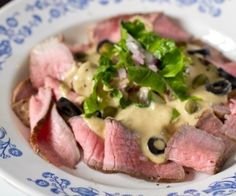 Italian classic Vitello Tonato made easy at home - veal, tuna, eggs - lots of protein! Canned Tuna Recipes, Healthy Beef Recipes, Veal Recipes, Seafood Recipes, Healthy Eats, Vitello Tonnato Recipe, Carpaccio, Menu, Paleo Dinner