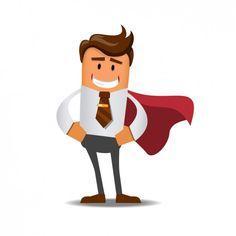 Super businessman  Free Vector