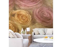 """Large Roses"". A wall mural from Muralunique.com. https://www.muralunique.com/large-roses-9-x-8-275m-x-244m.html"
