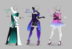 Outfit design - 320 - 322 - open by LotusLumino on DeviantArt