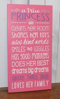 This cute decoration for a little girl's room seems harmless. Yet it uses the princess-obsession to the parent's advantage. This manipulates little girls into doing whatever it takes (even if it's good things) to be a princess. Little Girl Rooms, Little Girls, Baby Girls, Ideas Hogar, Girls Bedroom, Bedroom Ideas, Childs Bedroom, Kid Bedrooms, Fairy Bedroom