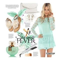 """""""Tomtop.com: Spring Fever"""" by hamaly ❤ liked on Polyvore featuring H&M, Yves Saint Laurent, vintage, lace, bags, SpringStyle and tomtop"""
