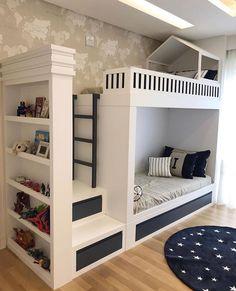 "Interior Design | Kids Decor on Instagram: ""When a bunk bed is functional and beautiful🤩Credit to @kidsarquitetura"" Serene Bedroom, Simple Bedroom Decor, Yellow Bathrooms, Dream Bathrooms, Luxury Furniture, Bunk Beds, Home Goods, Interior Modern, Interior Design"