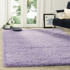 Safavieh California Cozy Solid Lilac Shag Rug ($50) ❤ liked on Polyvore featuring home, rugs, purple, lilac rugs, safavieh rugs, plush area rugs, shag pile rugs and textured rugs