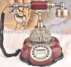 Retro phone,flower antique telephone,old style phone products, buy ...
