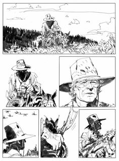 aapstra: Ken Parker by Ivo Milazzo. Comic Book Layout, Comic Books Art, Ken Parker, Character Illustration, Illustration Art, Comic Frame, Comic Style Art, Comic Tutorial, Graphic Novel Art