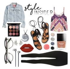 """""""Style insider"""" by fashionwiz342 on Polyvore featuring Rosetta Getty, H&M, Topshop, MAC Cosmetics, Rituel de Fille, Terre Mère, Lime Crime, Master & Dynamic, contestentry and laceupsandals"""