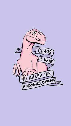Imagem de dinosaur, pink, and wallpaper