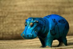 Blue faience hippopotamus, from Thebes, Middle Kingdom, Egyptian Museum, Cairo, Egypt