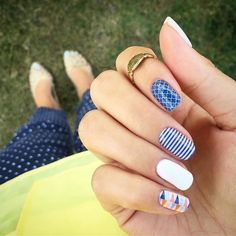 Last chance for #TBT How are you wearing it? We love the combo @nnyjams  #NavyQuatrefoilJN