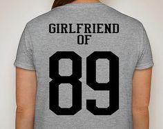 Sports Girlfriend of # Customized t-shirt  Proud Football, Baseball, Basketball, Hockey, Wrestling, Soccer Girlfriend Shirt Fan Cheer