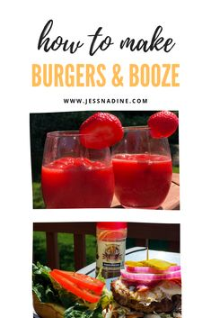 Burgers & Booze: two recipes you need this summer! Healthy Burger Recipes, Cravings, Summer, Summer Time, Healthy Hamburger Recipes, Summer Recipes