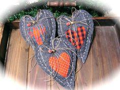 Vánoční výzdoba Rustikální Hearts Vánoce by Mydaisy2000