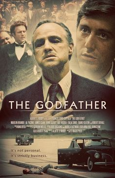 The Godfather - Alternative movie poster featuring Marlon Brando, Al Pacino, James Caan and the Scene with Sonny ont he Causeway #GangsterMovie #GangsterFlick