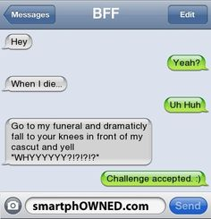 Challenge accepted!! BREE, Tracy, Bri and Sushi...DO IT! Unless of course you guys go first..in which case I got you ;)