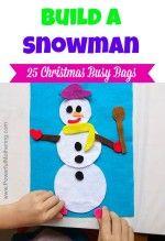 Build a Snowman  – Christmas Busy Bags