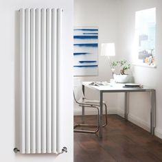 Living room - BTU 10092 - GBP 288 - Milano Aruba - White Vertical Designer Radiator 1780mm x 472mm (Double Panel)