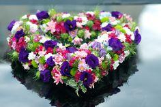 Herz Blumen bunt Bouquet