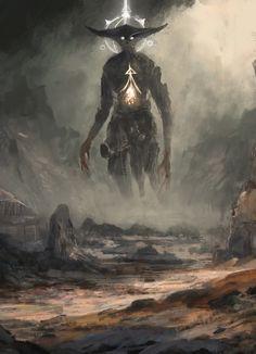 """fantasyartwatch: """" Threshold of the Gods by Sam White """""""