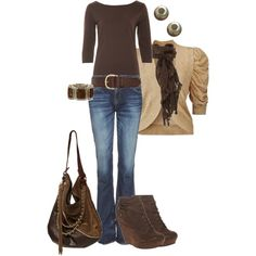 brown, created by johnna-cameron on Polyvore