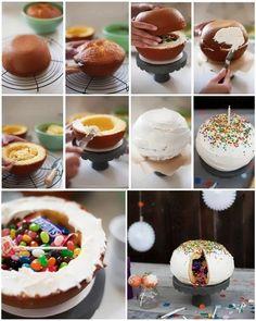 Pinata cake idea