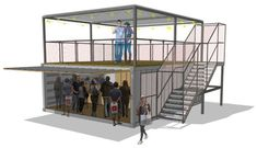 Converted shipping container bar for Meantime Brewery Container Coffee Shop, Container Restaurant, 20ft Container, Container Shop, Container House Design, Container Architecture, Container Buildings, Converted Shipping Containers, Shipping Container Design