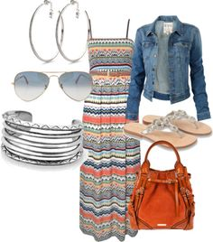 Very cute maxi dress.love it paired with the denim jacket I see this outfit in my very near future!