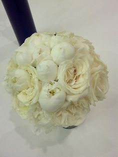 Bridal Bouquet of white peonies