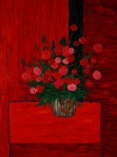 Painting by Timothy Clayton #rouge #red #vermelho #rot #rosso #rojo #rod #color #reds #reddish #beautiful #art #painting #flowers