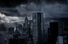 dark city cityscape - Google Search
