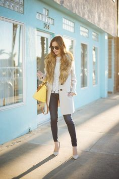 faux fur and lace
