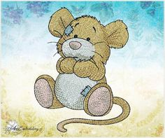 """Vole, Meadow Mice or Field Mice of a series """"Old Toy"""" - Machine Embroidery Design for a Babies and Children in two sizes"""