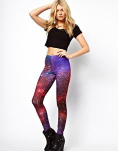 ASOS Leggings In Photographic Star Galaxy Print