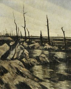 Rain and Mud after the Battle - Christopher Nevinson - The Athenaeum 1917
