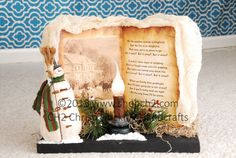 Let It Snow Snowman Scene Christmas Vignette by shopch2 on Etsy