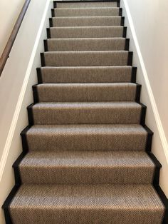 Cost Of Carpet Runners For Stairs Hallway Carpet Runners, Cheap Carpet Runners, Stair Runners, Stairway Carpet, Hall Carpet, Stairs No Carpet, Striped Carpet Stairs, Modern Carpet, Grey Carpet