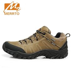 143.00$  Buy now - http://aliwrv.worldwells.pw/go.php?t=32712032311 - MERRTO Men Hiking Shoes Water Proof Breathe Brand Outdoor Sneakers Climbing Camping Men Anti-Slip Athletic Sports Shoes  #18016
