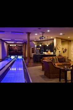 Traditional Basement Design, Pictures, Remodel, Decor and Ideas - page 5 Man Cave Basement, Man Cave Garage, Dark Basement, Game Room Basement, Modern Basement, Garage Bar, Basement Ideas, Home Bowling Alley, Future House