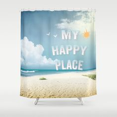 #society6 #showercurtain #myhappyplace #beach #ocean